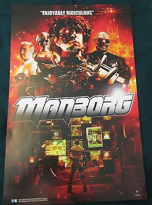 Manborg / John Dies at the End Double-sided Movie Promo Poster Fan Expo 2013