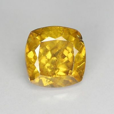 "1.08 Cts ""Spain"" Golden Yellow ""Cushion Cut"" Natural ""Sphalerite"" PR187"