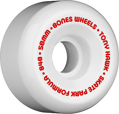 Bones - Hawk Mini Cube White 58MM 84B P5 SPF Skateboard Wheels