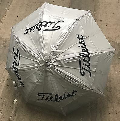 Titleist Gustbuster Spectator Umbrella Seat Chair Walking Stick Rare Pre-Owned