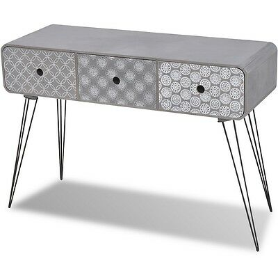 Retro Console Table Vintage Style Hall Hallway Living Room Furniture 3 Drawers