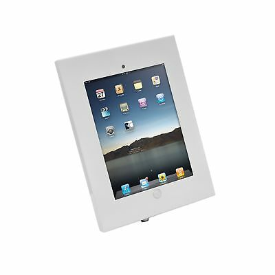 Pyle Security Anti-Theft iPad Wall Mount, Lock & Key Tablet Device Holder Case P