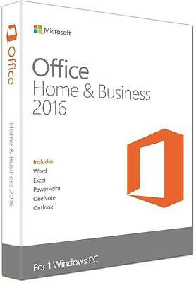 Microsoft Office Home And Business 2016 DVD with Key New in Sealed BOX!
