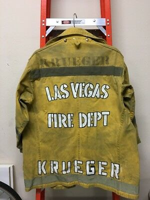 Used Body Guard Las Vegas Firefighter Jacket Size 44 Turnout Gear named