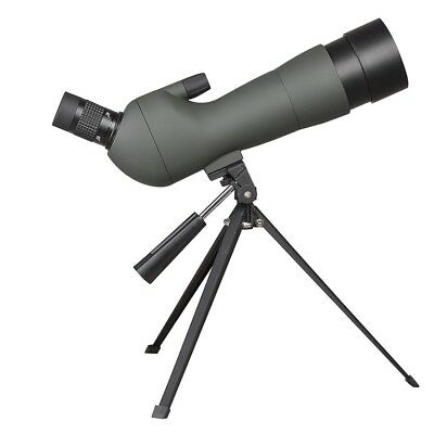 20-60x60mm Zoom Angled Spotting Scope Monocular Birdwatching Telescope w/ Tripod