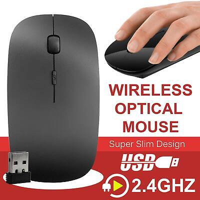 Black 2.4 GHz Wireless Cordless Optical Scroll USB Mouse For PC Laptop Computer