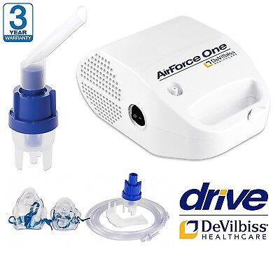 Compression Nebuliser Nebulizer Breathing Aid 5.1L/Min Asthma COPD Respirator