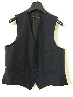 Used Dark Blue Vest Size 44L Free Shipping Worldwide #1048