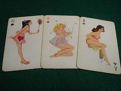 Original Vintage Pin Up Playing Cards c1950's NOT Reproduction RARE #056