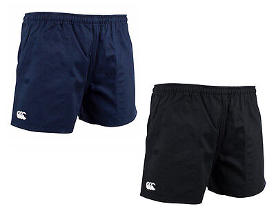 Canterbury Mens Cotton Rugged Drill Shorts Black/Navy Size 32-42