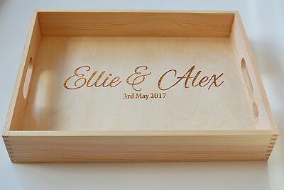 Personalised Wooden Tray, Wedding Gift, Anniversary Tray, Valentines Tray40x30cm