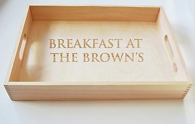 Personalised Wooden Tray, Tea Tray, Serving Tray 40x30cm Mothers Day Gift
