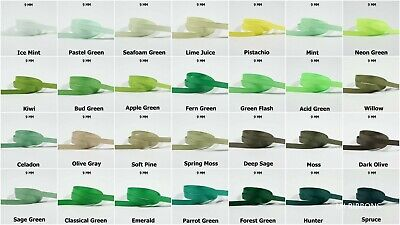 5yds--10mm GREEN Grosgrain Ribbon 17 COLOURS U PICK