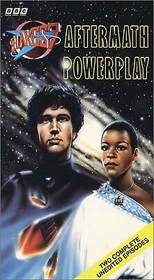 BLAKE'S 7 - BBC VHS - AFTERMATH and POWERPLAY - TWO COMPLETE UNEDITED EPISODES