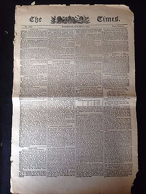 The Times Newspaper October 3Rd 1798 Issue 4298