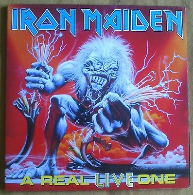 IRON MAIDEN - A real live one.  LP VINYL Spanish