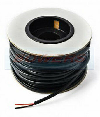 100M METRE ROLL/REEL BLACK/RED TWIN CORE CABLE/WIRE 8.75AMP 14 STRAND 1.00mm