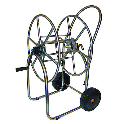 Professional Stainless Steel Hose Cart - Max. 100m