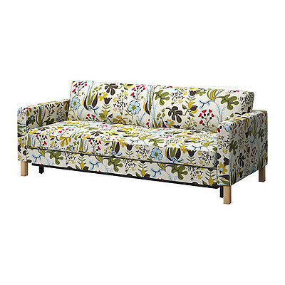 New Ikea Karlstad 3-seat sofa bed COVER SET ONLY in Blomstermåla multicolour