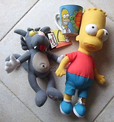 Scratch the Cat, Bart Simpson Plush toys and mug