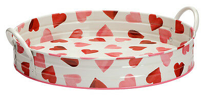 Emma Bridgewater Designed Large Pink Hearts Garden Tray with handles
