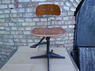 Vintage Retro Swivelling Industrial Medicine Office Desk Chair