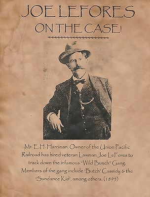 JOE LEFORES!~(i COMBINE SHIPPING)~OLD WEST,WANTED,POSTER,DEPUTY,CASSIDY