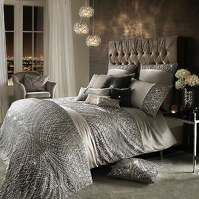 Kylie Minogue Bedding ESTA SILVER - Grey Duvet Cover, Curtains, Cushion or Throw