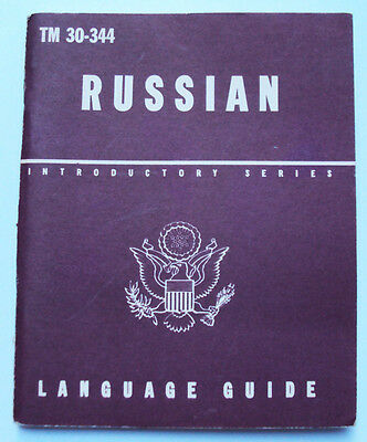 WW2 US ARMY TM 30-344 Russian Language GUIDE BOOK RESTRICTED ILLUST 1943