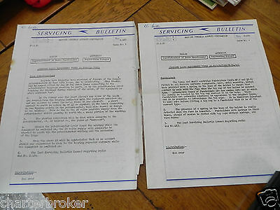2 1950 Boac Airline Service Bulletin Sheets From Superintendent Of Radio Mx
