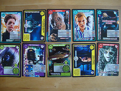 10 Doctor Who Trading Cards Lot 14