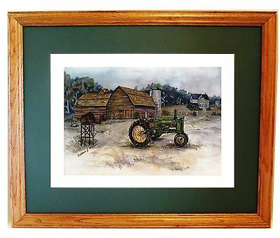 New John Deere Unstyled A Print By Iowa Artist Colleen Carson