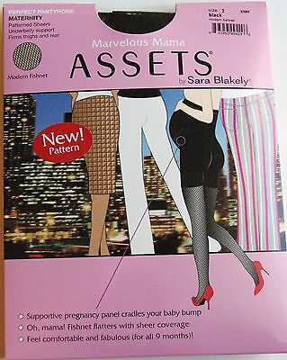 Marvelous Mama ASSETS By Sara Blakely Maternity Pantyhose/Tights Black: 2