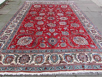 Old Shabby Chic Traditional Persian Wool Red Oriental Hand Made Carpet 416x299cm