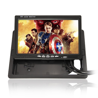 BW HD High-resolution 1024x600 7 Inch LCD Car Monitor - Widescreen 16:9 ratio