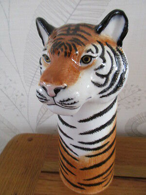 Beautiful Quail Pottery Ceramic  Tiger Flower Vase  Boxed Ideal Gift