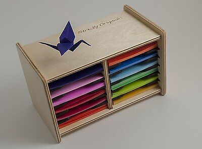 Origami Paper Case Box Organizer for 3 inch square sheets by Strictly Origamic