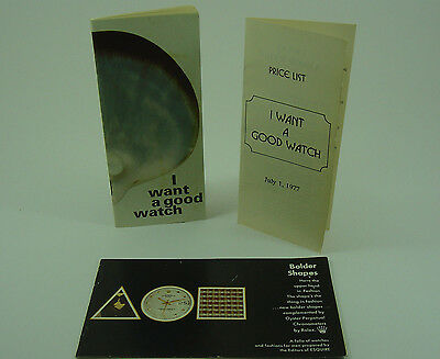 Genuine Rolex 'I want a good watch' booklet & price list 1977 (USA version)