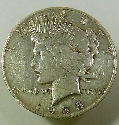 1935-S Silver Liberty PEACE Dollar $1 US Coin Item #9414