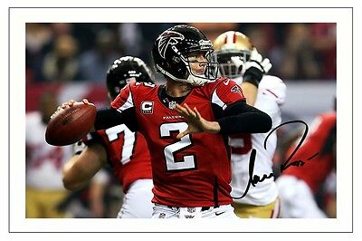 Matt Ryan Atlanta Falcons Signed Photo Autograph Print Nfl Football