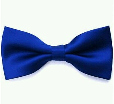 Royal blue satin bow tie for kids boy toddler or baby