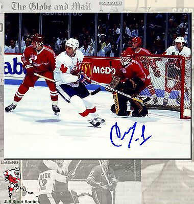Sergei Mylnikov Team CCCP Russia Autographed 8x10 Photo withTeam Canada Auction