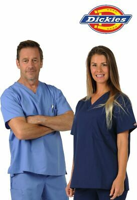 Dickies Unisex Chest Pocket Scrub TOP 11 Colours Dental Medical Uniform Tunic