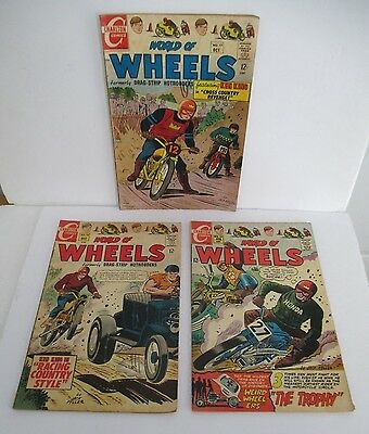 WORLD OF WHEELS featuring Ken King Comics #s 17 18 24, 1967-1969