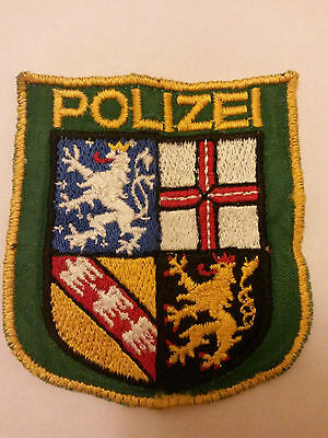 German Saarland Police Patch