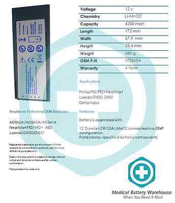 Replacement FR2 / FR2+ medical battery - Philips HeartStart AED Defibrillator