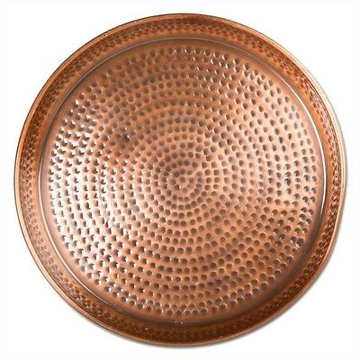 Tag Hammered Copper Round Tray