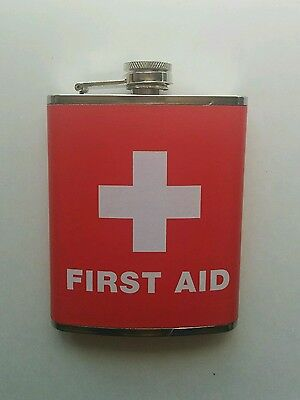 First Aid Cross (Wink) 7 Oz Flask - FREE TRACKED SHIPPING TO NORTH AMERICA