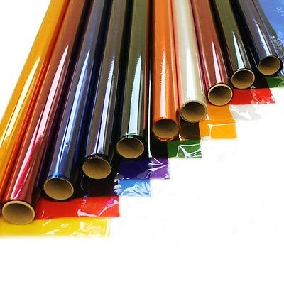 5 Rolls 50cm x 4.5m Coloured Cellophane Craft Gift Florist Wrapping ( 5 Rolls )