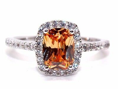 Sterling Silver Morganite And Diamond 1.89ct Ring (925) Size 7 (N)